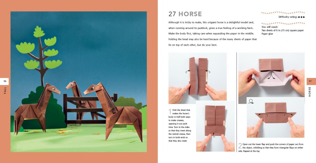 Horses, complete with the paper in the back of the book.