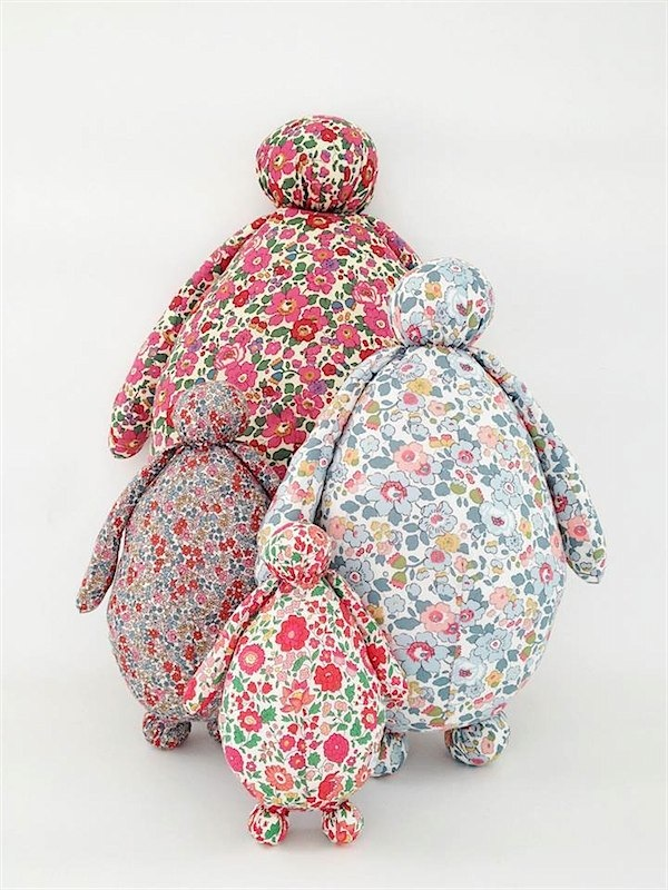 Pigmée liberty dolls via Toby & Roo :: daily inspiration for stylish parents and their kids.