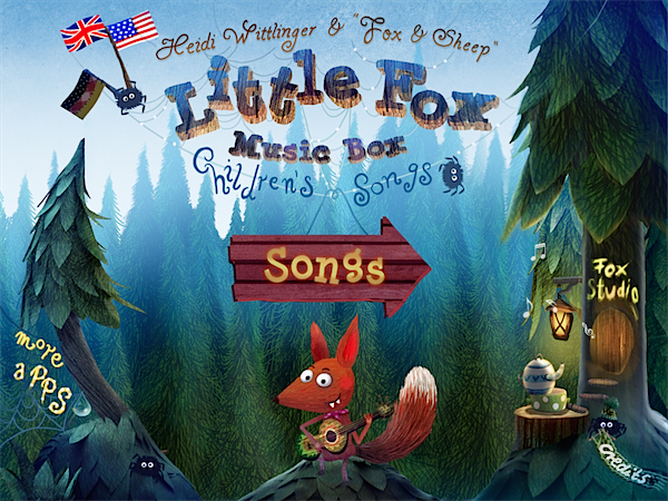 Little fox music box App via Toby & Roo :: daily inspiration for stylish parents and their kids.