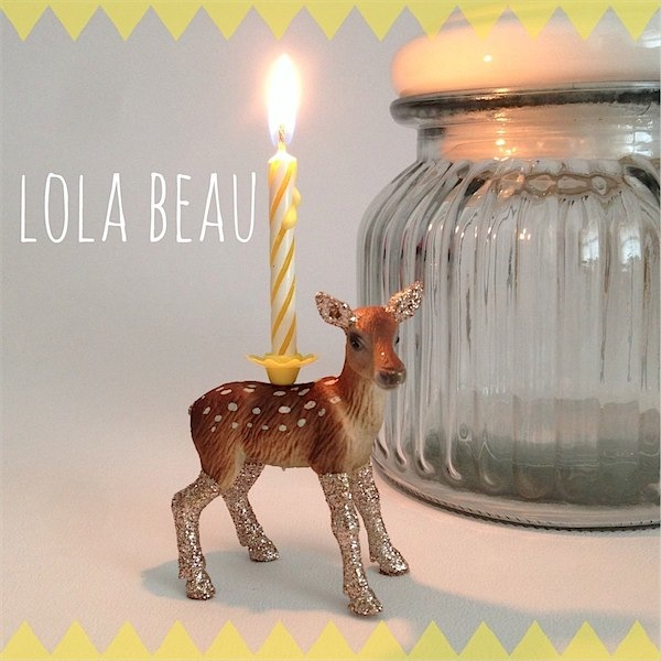 Handmade candle holders from Lola Beau Designs via Toby & Roo :: daily inspiration for stylish parents and their kids.