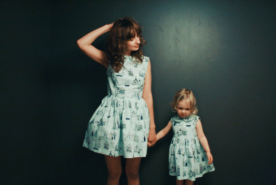 OffOn matching dress for mother and daughter via Toby & Roo :: daily inspiration for stylish parents and their kids.