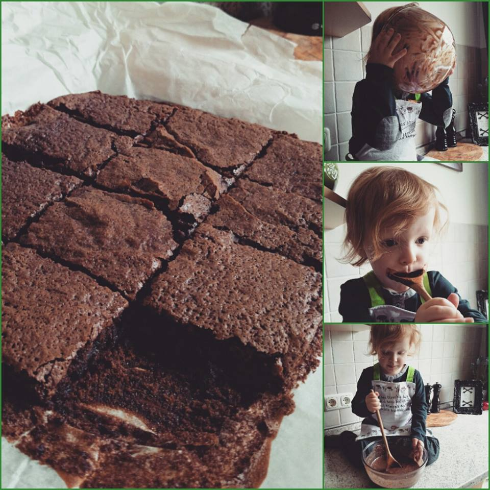 LaNoire's Vegan Kitchen :: Vegan brownies via Toby & Roo :: daily inspiration for stylish parents and their kids.