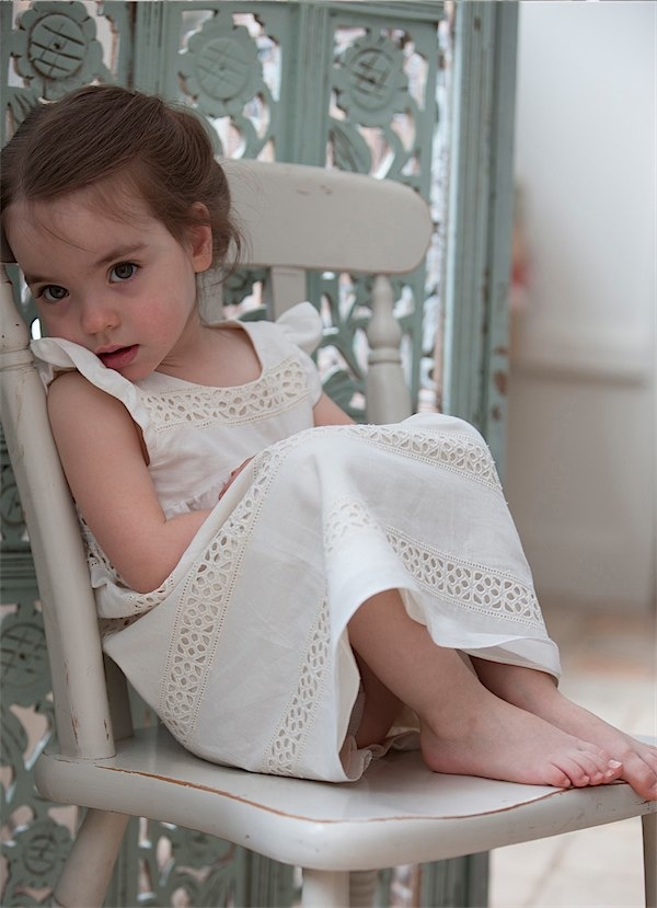 Heirloom fashion for girls from Hoity-Toity Designs via Toby & Roo :: daily inspiration for stylish parents and their kids.