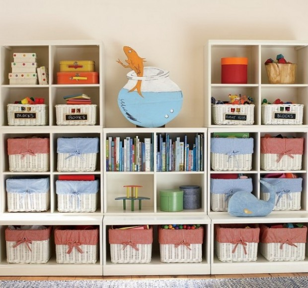 Storage ideas for kids via Toby & Roo :: daily inspiration for stylish parents and their kids.