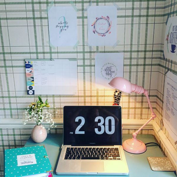 Tips for working from home :: creating a productive workspace via Toby & Roo :: daily inspiration for stylish parents and their kids.