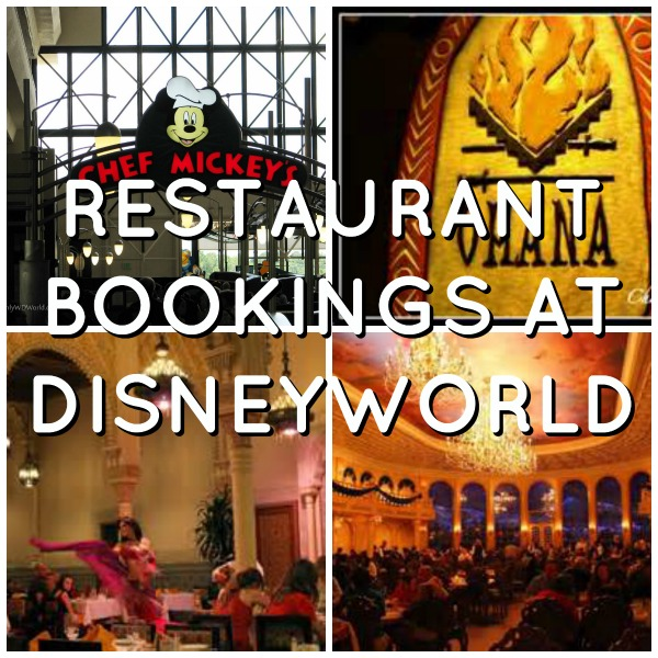 Restaurant bookings at DisneyWorld via Toby & Roo
