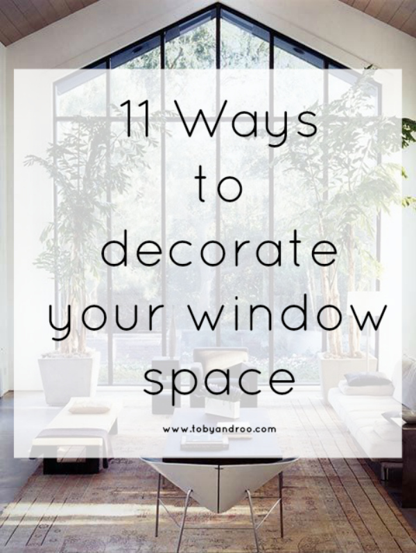 11 ways to decorate a window space for Summer! via Toby & Roo :: daily inspiration for stylish parents and their kids.